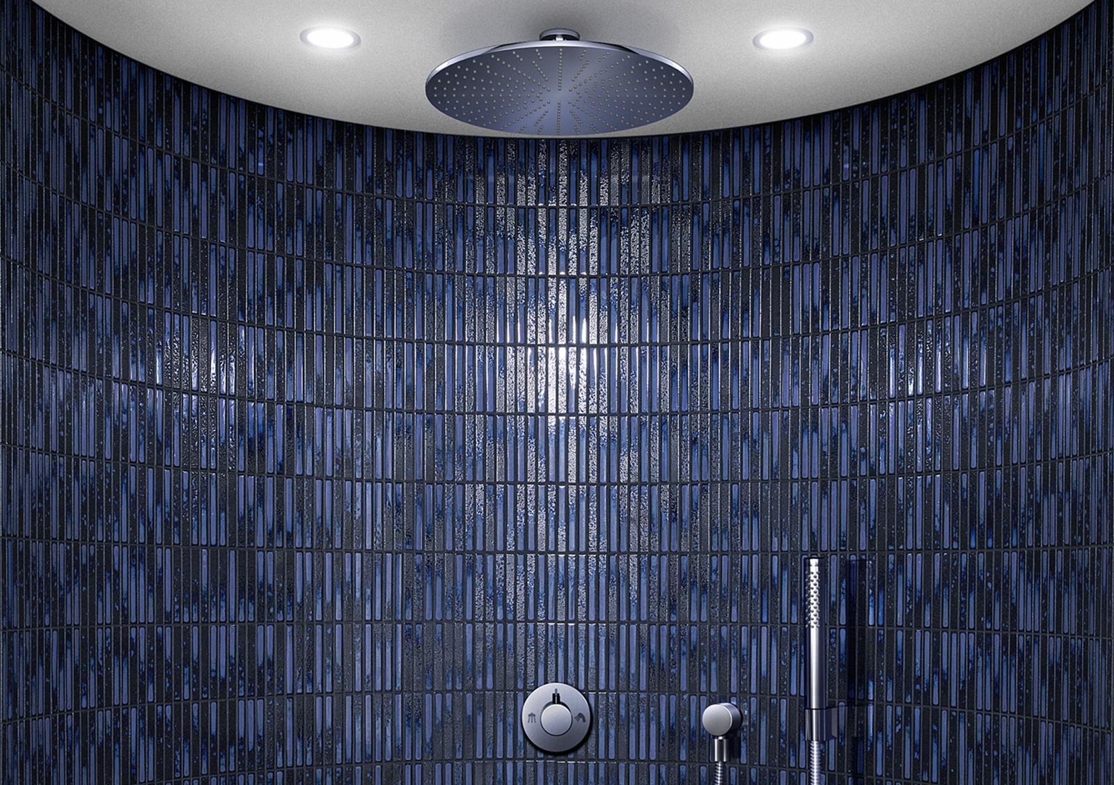 YOHEN BORDER dark blue mix inax tile
