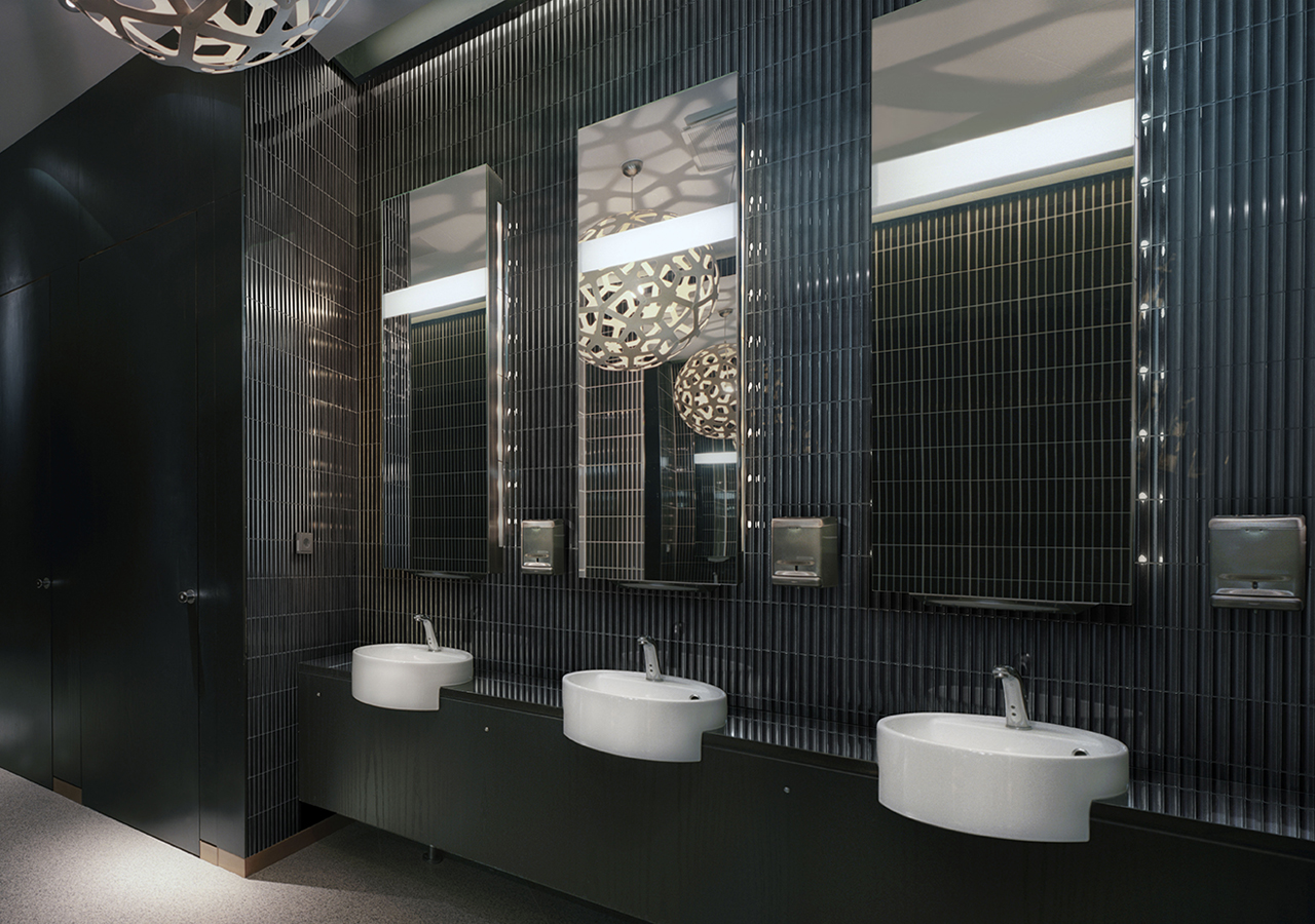 YUKI BORDER black bathroom inax tile
